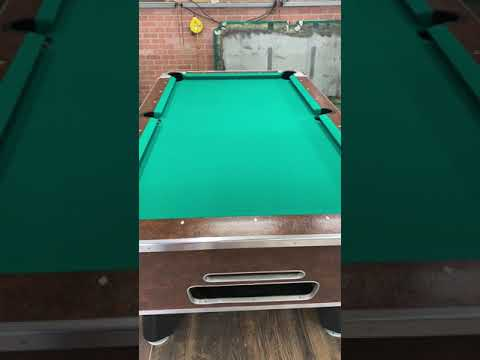 7' Valley Cheyenne Leather Used Coin Operated Pool Table