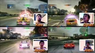 Unlicensed Drivers - Blur 4 Player Splitscreen with audio commentary