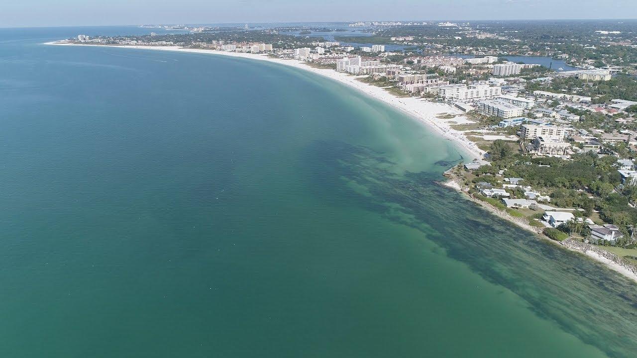 Aerial Siesta Key Crescent Beach
