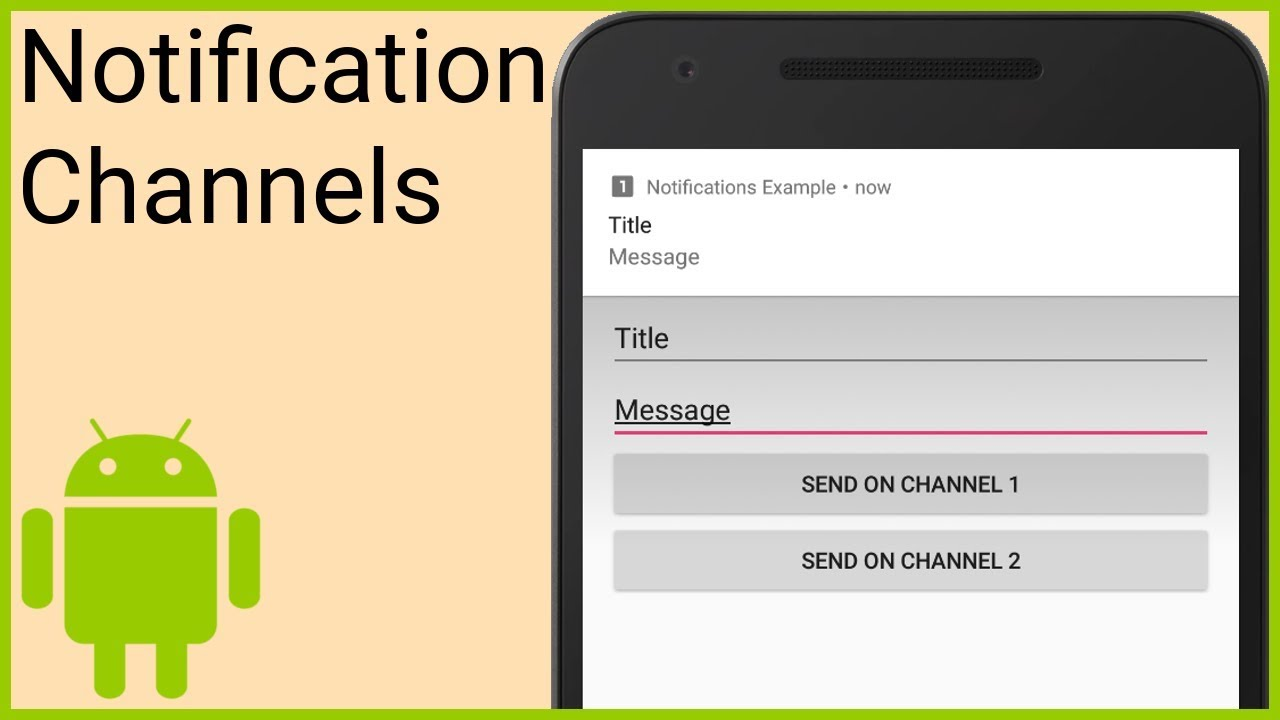 Notifications Tutorial Part 1 - NOTIFICATION CHANNELS - Android Studio  Tutorial
