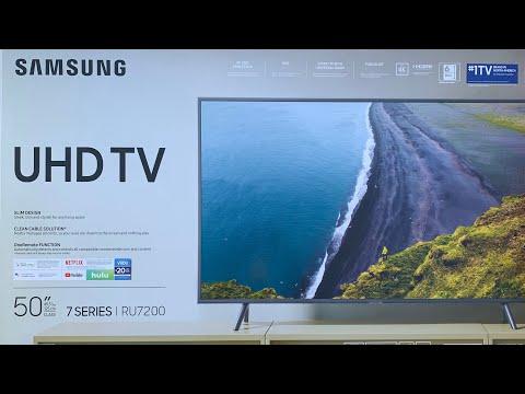 "SAMSUNG 50"" Class 4K UHD HDR TV RU7200 (2019 Model) UNBOXING | Same Specs As RU7100"