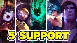 5 SUPPORT'LA OYUN KAZANMAK!