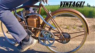 I make a VINTAGE motorbike from a bicycle.