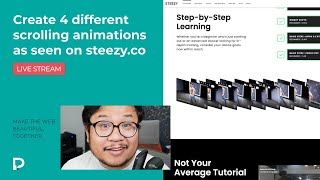 Create 4 different scrolling animations as seen on Steezy.co  Webflow Tutorial (2021)