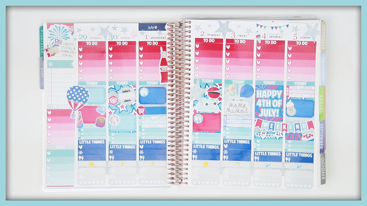 Plan with me 4th of july erin condren vertical youtube for Plan me