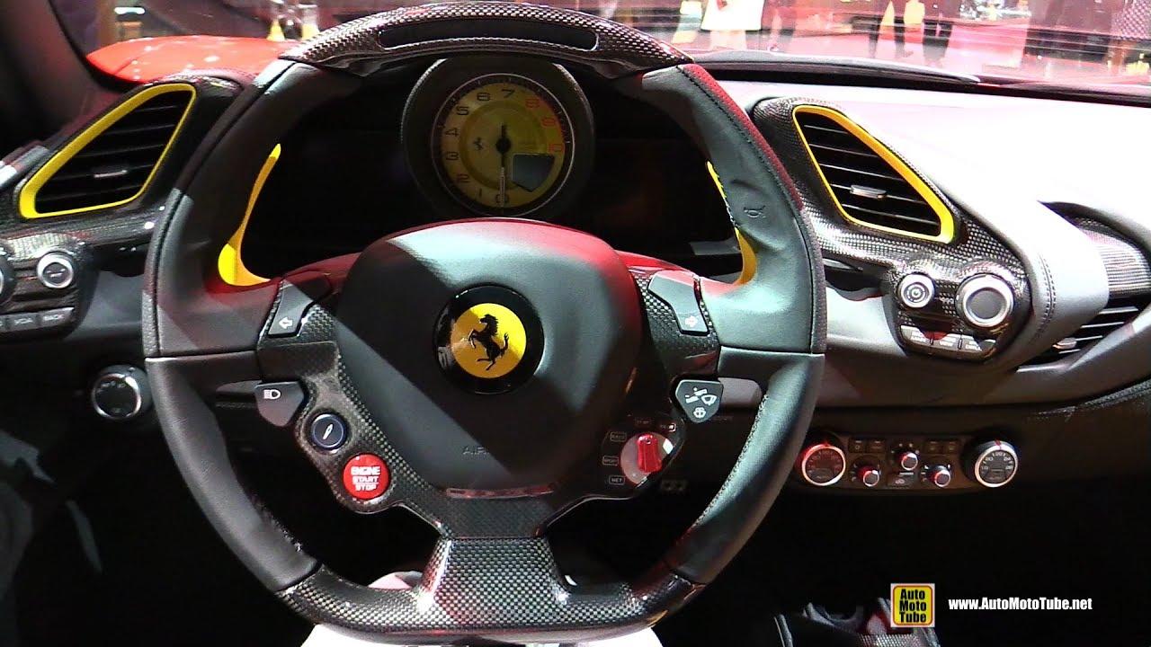 2017 Ferrari 488 Gtb Interior Walkaround 2016 Paris Motor Show
