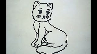 How to Draw a Cat (Cara Menggambar Kucing)