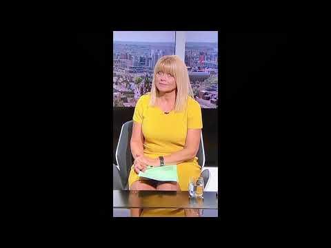 Christine Talbot itv Calendar sexy milf tight dress blonde