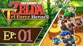Tri Force Heroes - Part 1 | Woodlands - Deku Forest! [3-Player 100% Walkthrough]