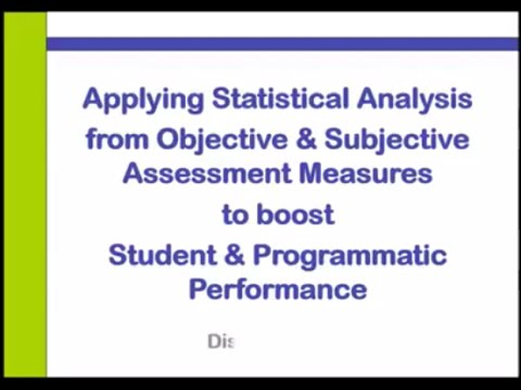 Applying Statistical Analysis from Objective and Subjective Assessment Measures