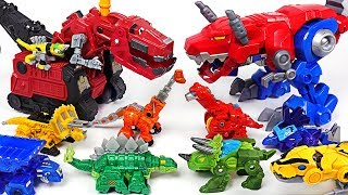 Jurassic World dinosaur Indoraptor appeared! Transformers Rescue Bots, Dinotrux! Go! - DuDuPopTOY