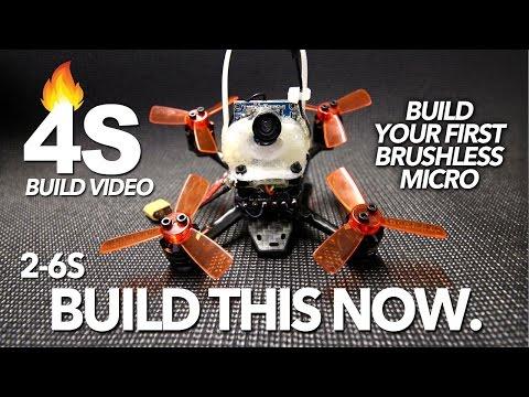 4S BRUSHLESS MICRO - BUILD VIDEO & FLIGHT