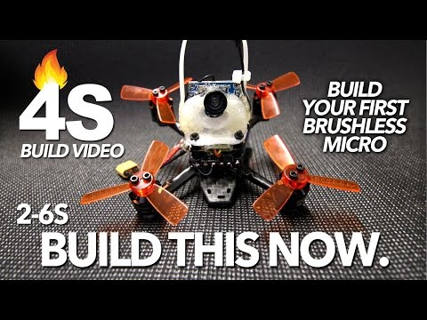4S BRUSHLESS MICRO - BUILD VIDEO & FLIGHT