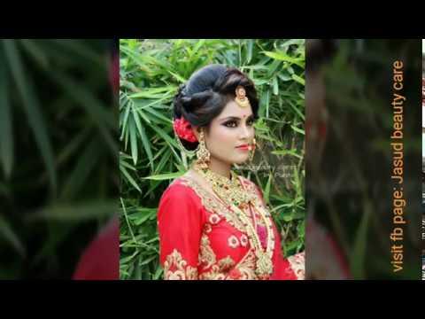 Indian bridal look makeup and hairstyle done by Punita Prajapati.