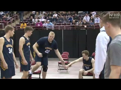 Download 6-foot-10 Brody Rowbury leads Meridian to state title