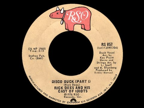 Rick Dees & His Cast Of Idiots ~ Disco Duck 1976 Disco Purrfection Version