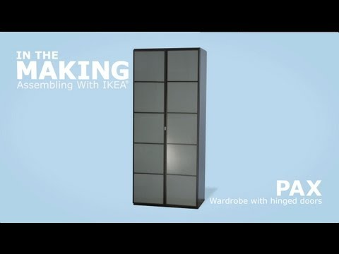 PAX Wardrobe with Hinged Doors Assembly Video - IKEA