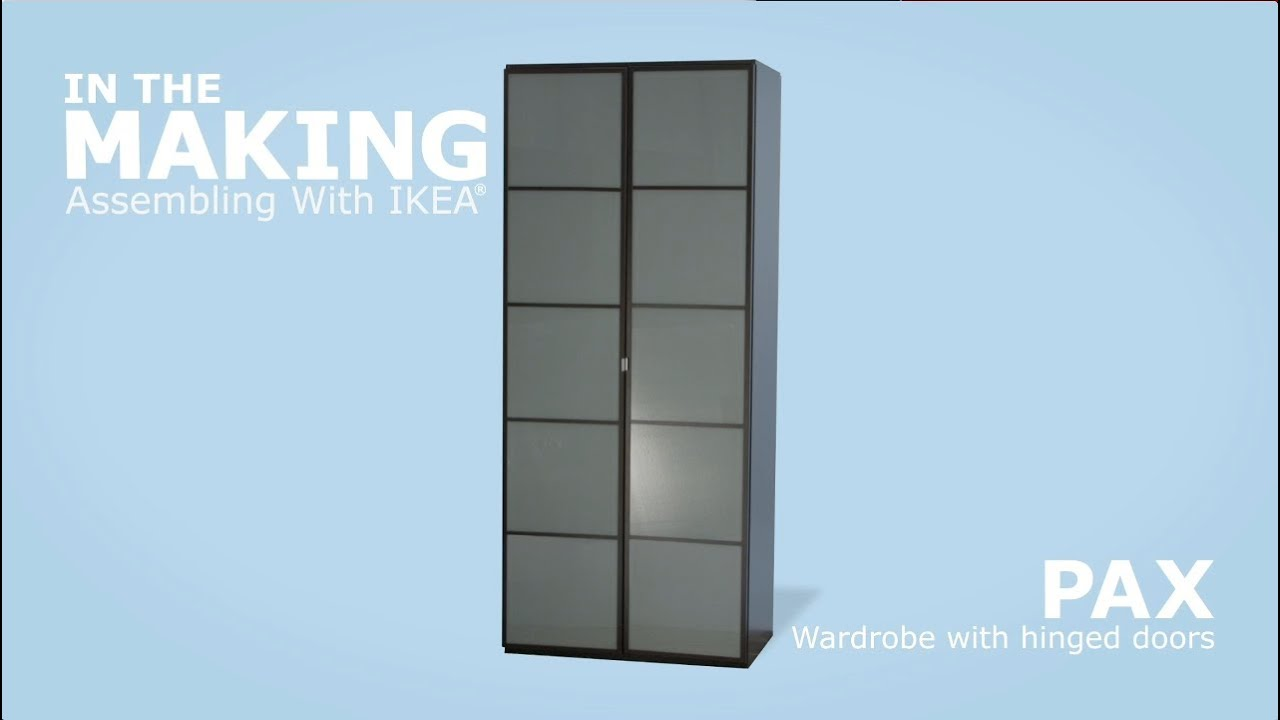 IKEA Pax Wardrobe with Hinged Doors Assembly Instructions - YouTube