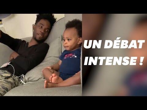 Un adorable mais intense débat entre un père et son fils
