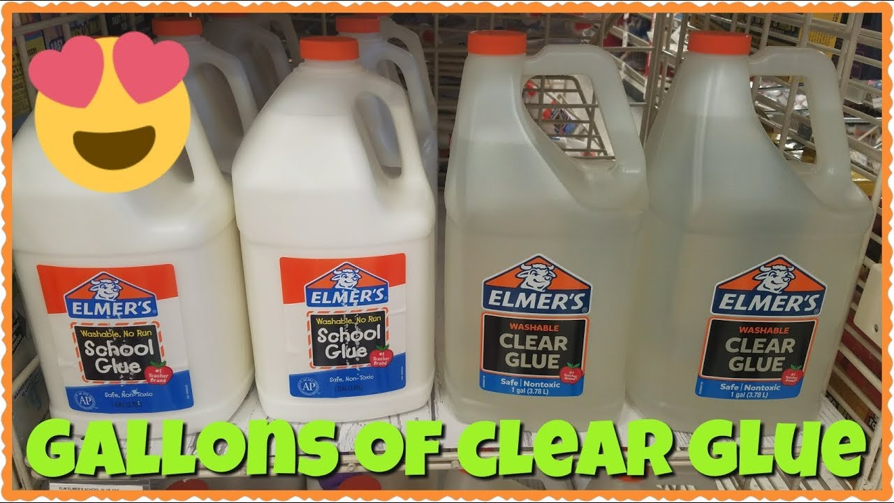 We Found Gallons Of Elmer S Clear Glue Ping For Slime Supplies