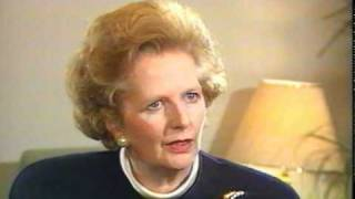 Margaret Thatcher talking with Mikhail Gorbachev about Nuclear Weapons
