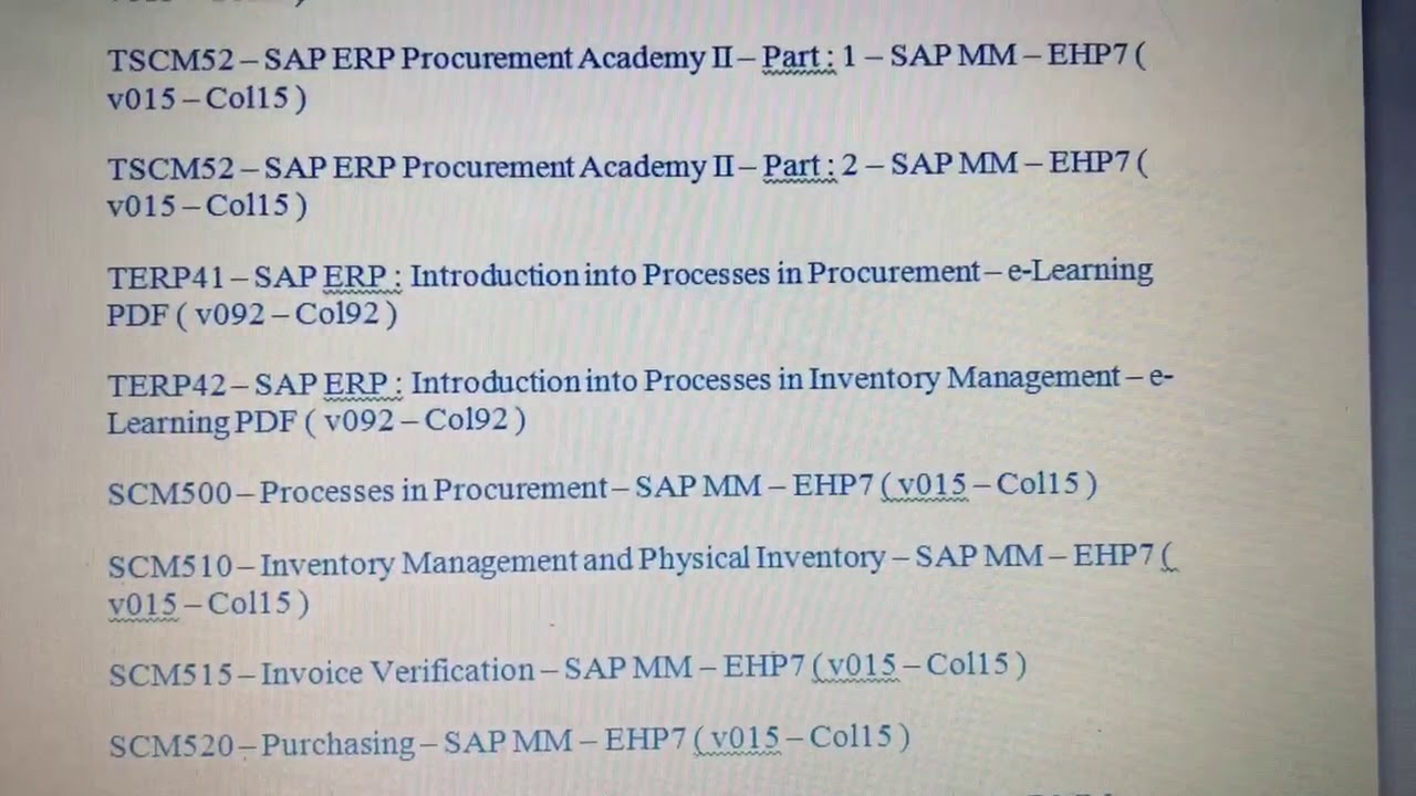 Sap mm certification materials download youtube sap mm certification materials download xflitez Image collections