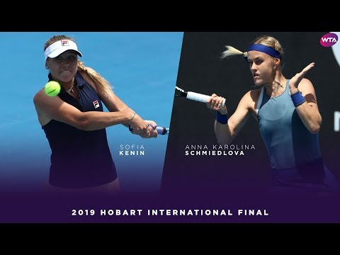 Sofia Kenin vs. Anna Karolina Schmiedlova | 2019 Hobart International Final | WTA Highlights