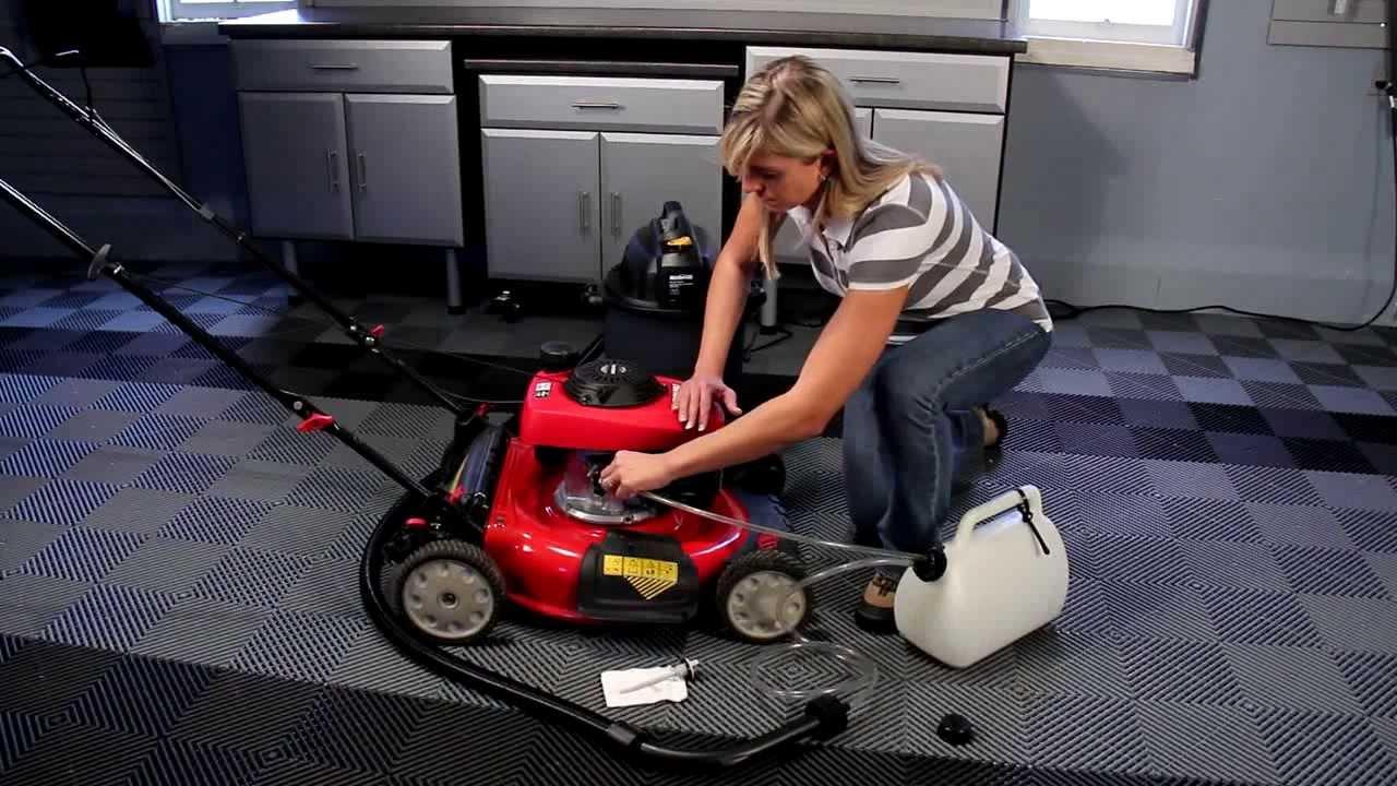 Como cambiar el aceite de su podadora de c sped utilizando - Precios de cortacesped ...