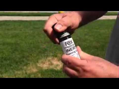 FOX LABS Pepper Spray Grenade Demonstration