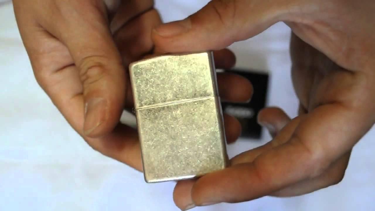????????? Zippo 121 FB Antique Silver Plate & ????????? Zippo 121 FB Antique Silver Plate - YouTube