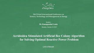 Acridoidea Stimulated Artificial Bee Colony Algorithm for Solving Optimal Reactive Power Problem