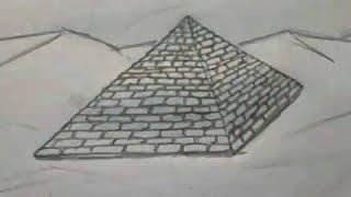 Como dibujar una piramide