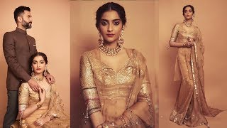 Sonam Kapoor and Anand Ahuja looks so royal at their friends wedding