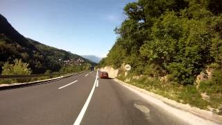 Bosnian road M-17 (03. Ivan tunnel - Konjic town)