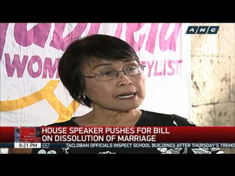 Alvarez seeks law on dissolution of marriage