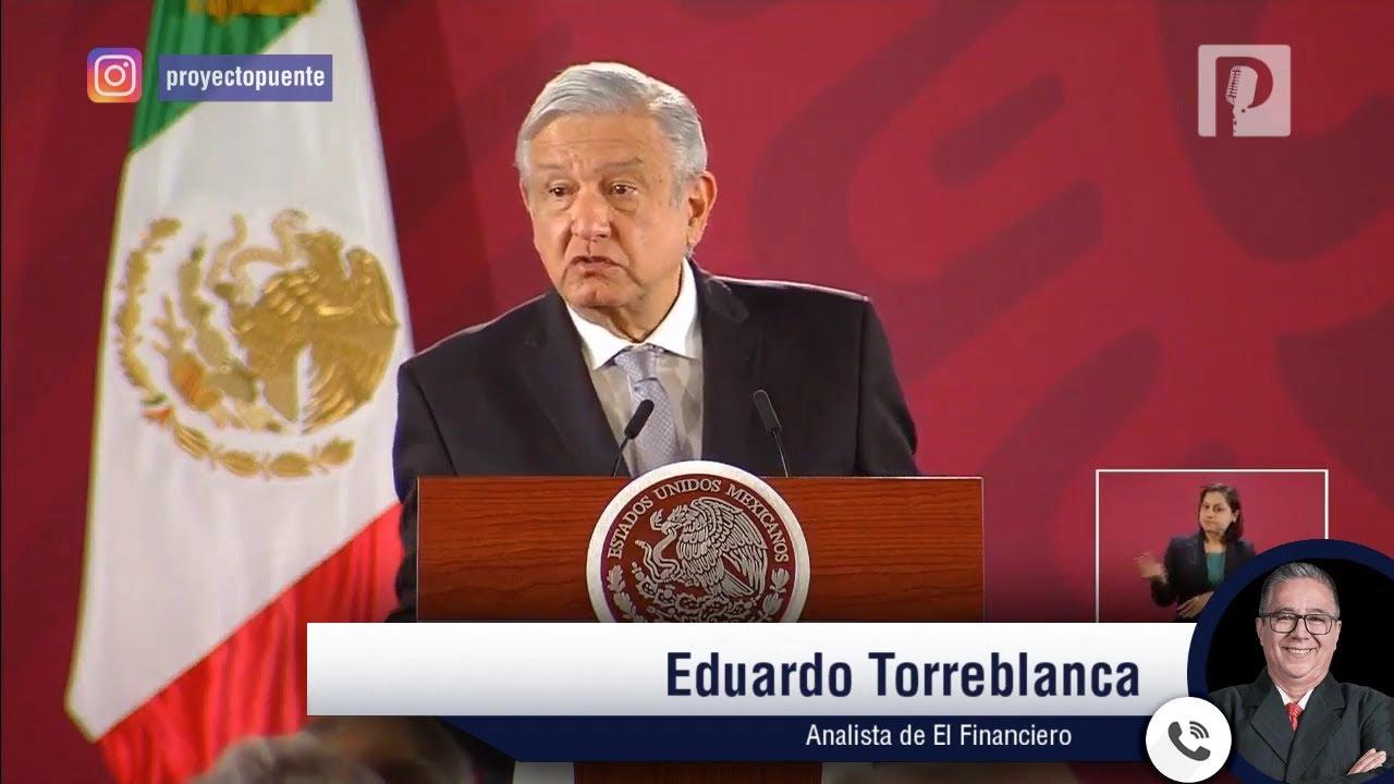 Es un 'empujonzote' a la economía el plan de 859 mil mdp que propone AMLO: Eduardo Torreblanca