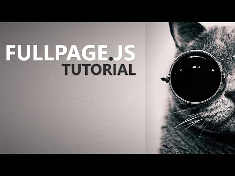 Fullpage js Tutorial - Part 1: Introduction - YouTube