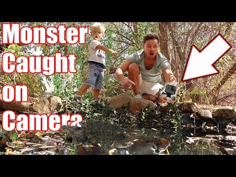 Pond Monster Caught On Camera! (FOUND GO PRO!)