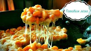 Жареная консервированная кукуруза с сыром на сковороде Простой рецепт