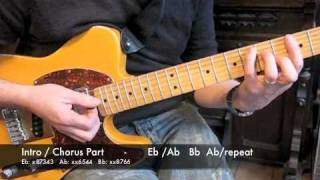Guitar tutorial on Mr Big Stuff. Please Subscribe for more...