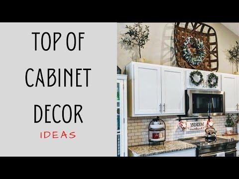 Top Of Cabinet Decor Ideas
