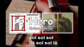 Hero - Enrique Iglesias - Karaoke notas para flauta acordes - Jose Galvao.mpg