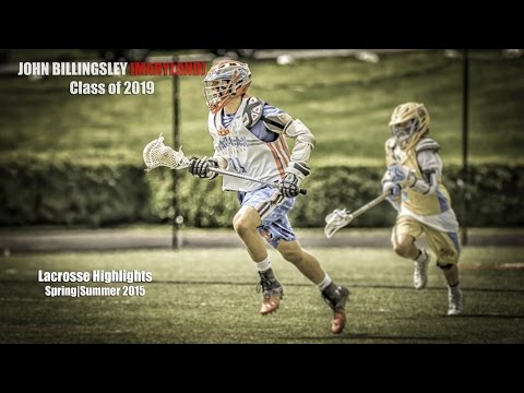 John Billingsley Maryland Commit  Class of 2019  Lacrosse Highlights  Spring  Summer 2015