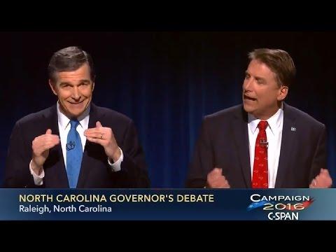 2016 North Carolina Gubernatorial Debate - Pat McCrory VS Roy Cooper