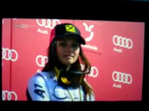Award ceremony Giant Slalom Worldcup Ladies FIS Alpine Lenzerheide 2014