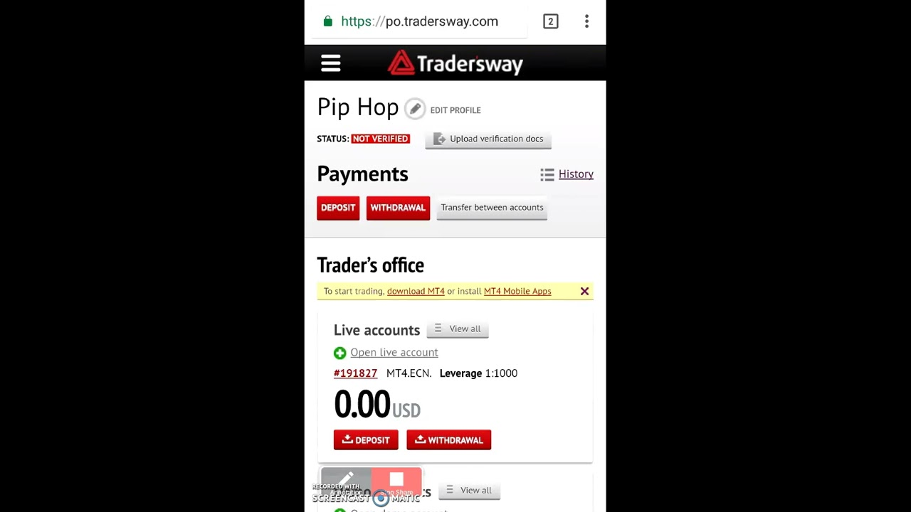 How To Verify Your Forex Account On Tradersway Youtube