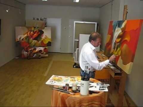 warme farben malerei, modernen malerei mit schone frohlichen farben im modernen gemälde, Innenarchitektur
