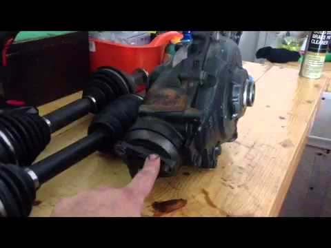 How To Remove Front Deferential On 2000 Bmw X5 Youtube