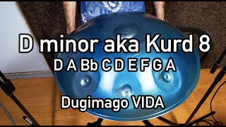 Dugimago Vida D minor aka Kurd 8 + Ding scale