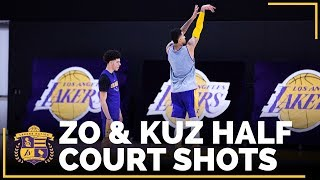 Lonzo Ball & Kyle Kuzma At It Again With Their Half Court Competition!